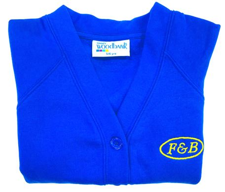 F & B INFANTS ROYAL CARDIGANS, Farbert & Barnard Infants School