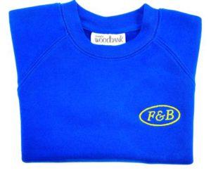 F & B INFANTS ROYAL SWEATSHIRT, Farbert & Barnard Infants School