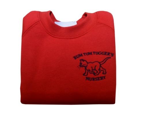 RUM TUM TUGGERS RED SWEATSHIRT, Rum Tum Tuggers Nursery