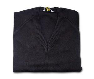 KNITTED V NECK JUMPER - BLACK, Jumpers & Cardigans